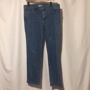 Chico's Denim Blue Jeans sz 12 or 2